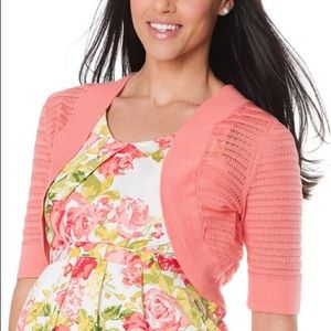 Motherhood Maternity coral shrug size medium
